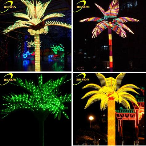outdoor lights led artificial palm tree coconut palm tree
