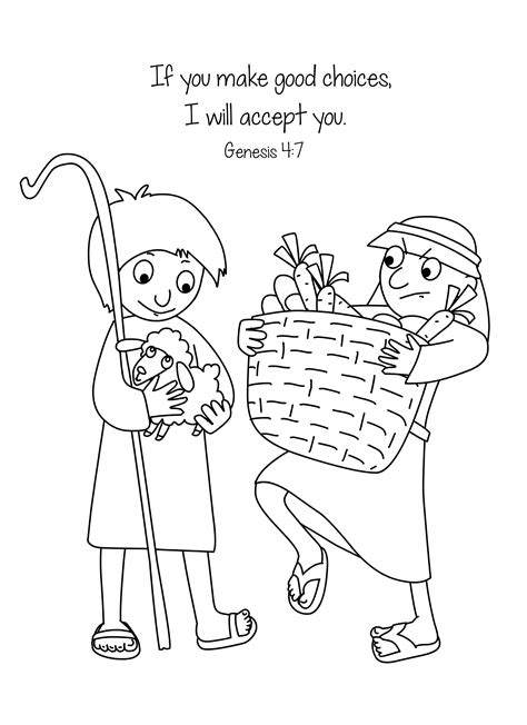 free bible coloring page cain and abel