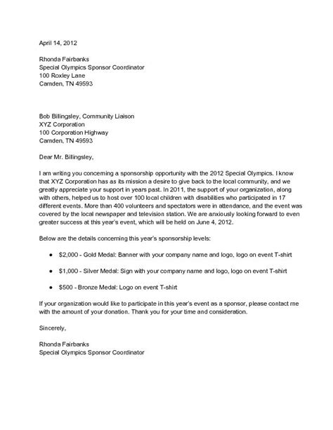 business sponsorship letter template sle corporate sponsorship letter wikihow