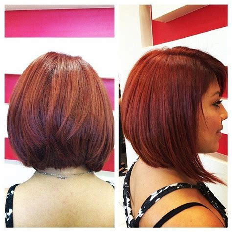 bob hairstyles in red 23 cute bob haircuts styles for thick hair short