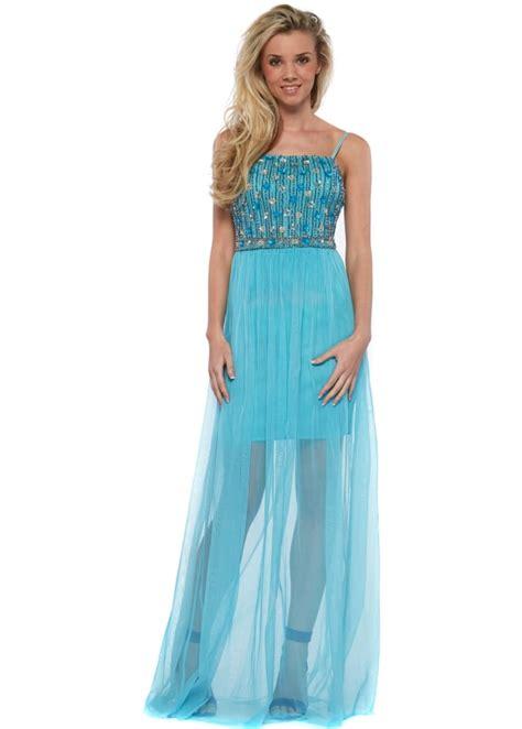 beaded bodice maxi dress goddess turquoise mesh maxi dress with beaded bodice