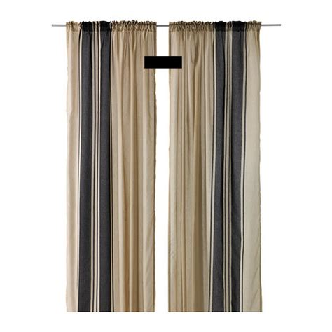 ikea curtains and drapes ikea bjornloka curtains drapes beige black stripes bj 214 rnloka