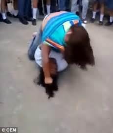 Head Hit The Floor - honduran schoolgirl smashes classmate s head against the floor on video daily mail online