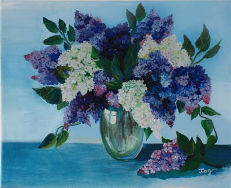 how to paint acrylic on canvas flowers acrylic painting canvas flower lilac wall home decorations