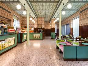 design cafe milan wes anderson designs a bar in italy for prada look inside