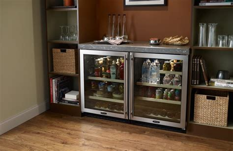 glass door wine beverage center beverage center marvel and glass doors on