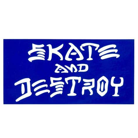 Stiker Sticker thrasher skate and destroy sticker 3 25 x 6 25