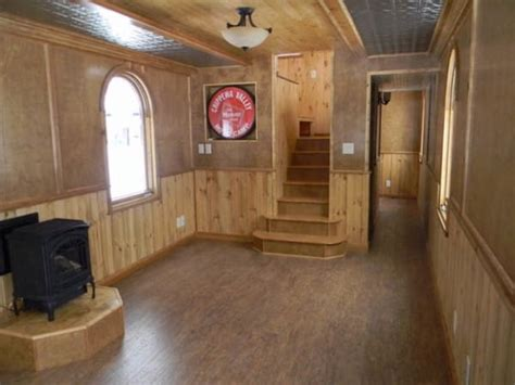 Park Model Travel Trailer Floor Plans This Caboose Style Tiny House Has An Amazing Interior