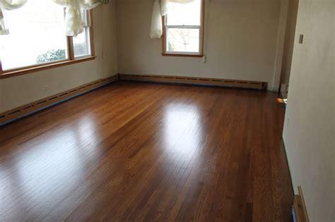 hardwood floor stain  refinished  oak floor