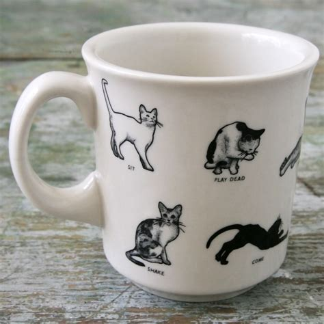 Cat Mug 1 cats mug mugs dinnerware
