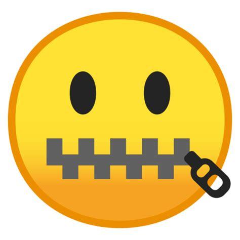 emoji zipped mouth rosto com boca de z 237 per emoji