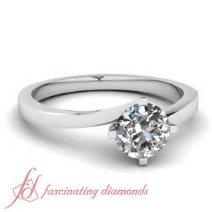 womens engagement rings 1 2 carat cut swirl solitaire womens gold engagement ring si2 ebay