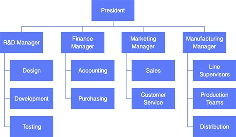 functional organizational chart template develop your organizational charts cacoo