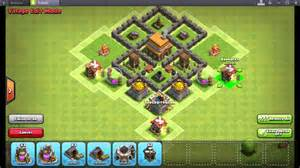 Clash of clans best town hall level 4 war base and trophy base