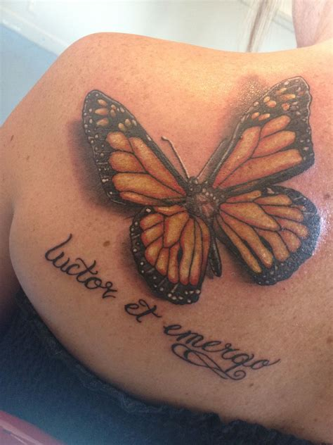 my tattoo is raised my new monarch butterfly quot luctor et emergo