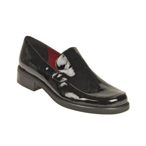 franco sarto bocca loafers franco sarto bocca loafers in black black patent lyst