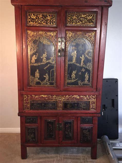 Antique Storage Cabinet Antique Storage Cabinet Ebay