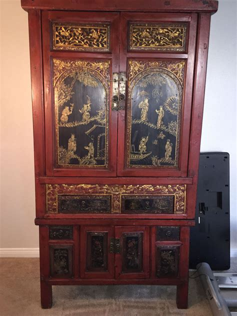 antique asian furniture armoire cabinet   28 images   antique storage cabinet ebay, antique