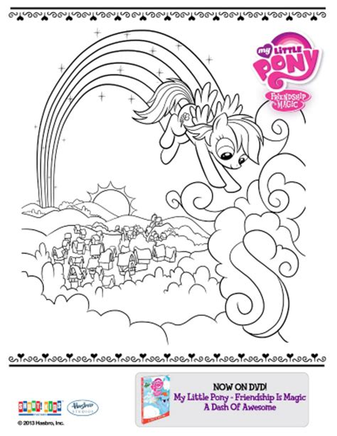 My Little Pony Friendship Is Magic Printable Coloring Page My Pony Friendship Is Magic Coloring Pages To Print