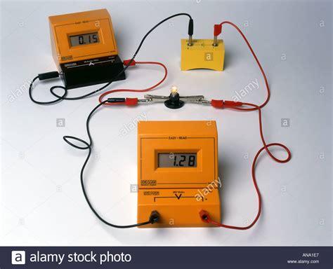 measure voltage across resistor multimeter a digital voltmeter and a digital ammeter measuring voltage across stock photo royalty free