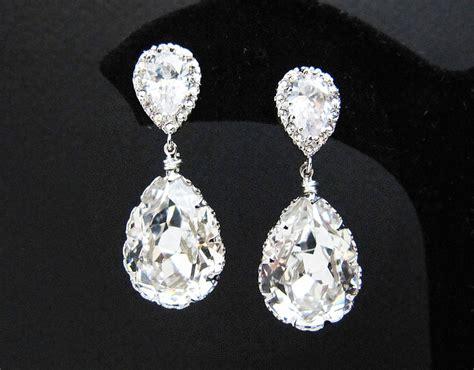 wedding jewelry bridal earrings bridesmaid earrings dangle