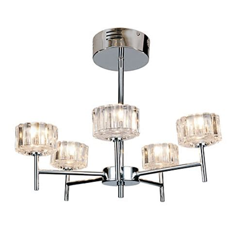 madaline 5 arm ceiling light chrome