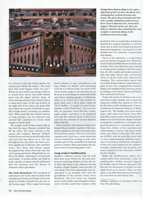 studley  tool chest article  fine woodworking magazine
