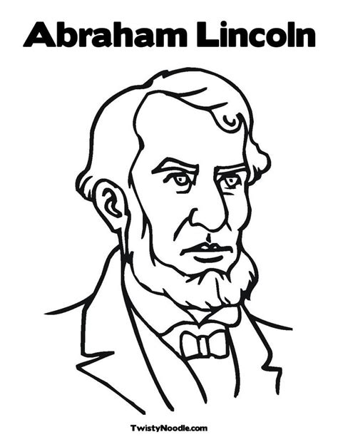 Abe Lincoln Coloring Page abraham lincoln free colouring pages