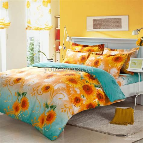 sunflower bedding comforter sets 1000 ideas about size comforters on
