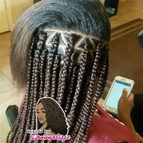 triangle parts natural hair triangle part box braids braids pinterest triangles