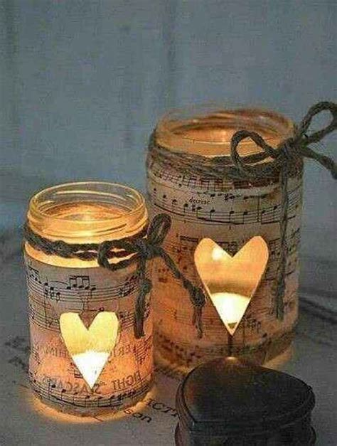 Decoupage Candle Jars - decoupage candle holders and candles on