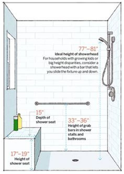 bathroom bench height 1000 ideas about shower heads on pinterest vessel sink