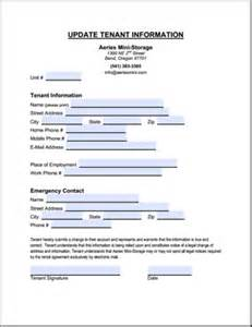 update contact information form template forms at aeries mini storage self storage in bend oregon