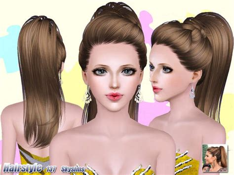 sims 3 free hairstyle downloads top ponytail hairstyle 137 by skysims sims 3 hairs