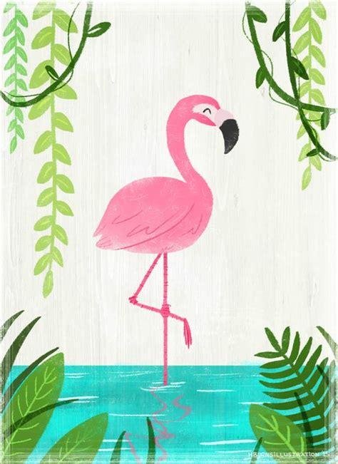 crown wallpaper flamingo flamingo illustration print by artbyheatherburns on etsy