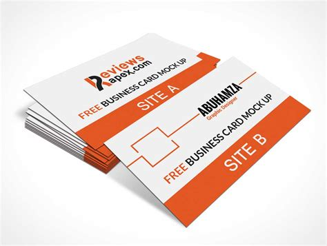 Realistic Card Psd Mockup Template by Stack Of Business Cards Psd Image Collections Card