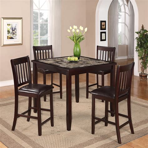 crown mark harrison counter height crown mark cascade 5 piece counter height dinette with