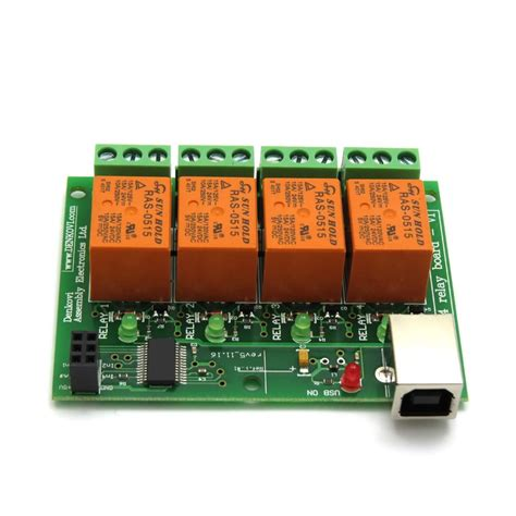 usb relay controller board 4 channels for home automation