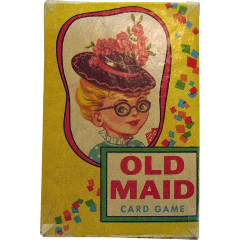 Good Old Games Gift Card - vintage old maid card game 1950s good condition from teesantiqueorchard on ruby lane