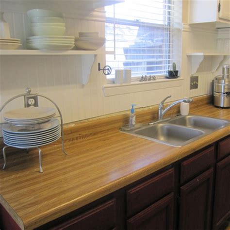 Make Your Own Laminate Countertop by Home Dzine Kitchen Replace Formica With Solid Wood