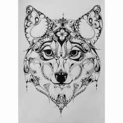 Zentangle wolf tattoo zentangle style wolf