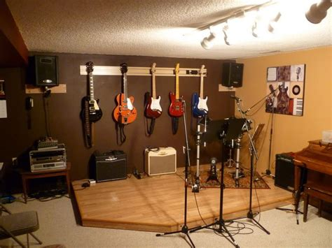 guitar room ideas practice room with a drum riser guitar room home theater practice space ideas