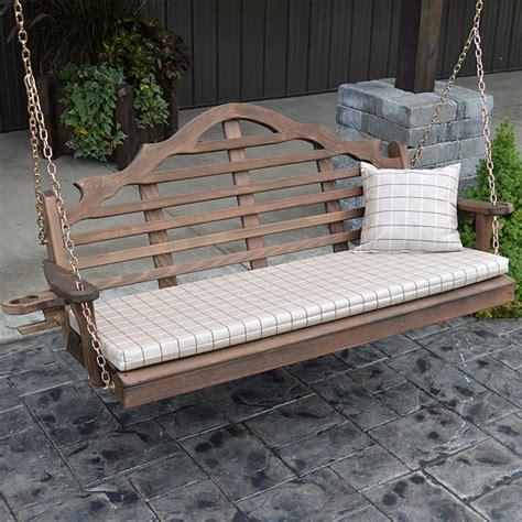 4ft porch swing red cedar marlboro 4ft outdoor porch swing