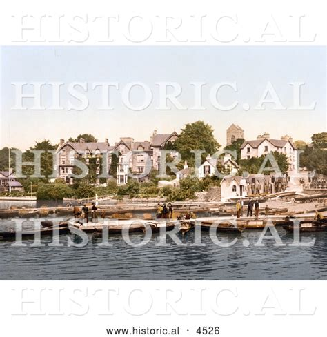 boat registration windermere historical photochrom of people on boats near the old