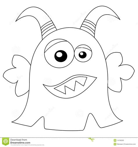 cute monster in black white stock photos image 14780293