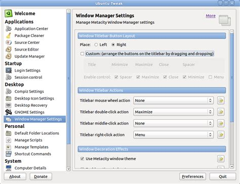 soarian layout manager preferences how to move the window control buttons to right side