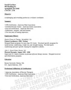 Wellness Coordinator wellness coordinator cv template free resume sles collection