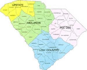 south carolina region map map