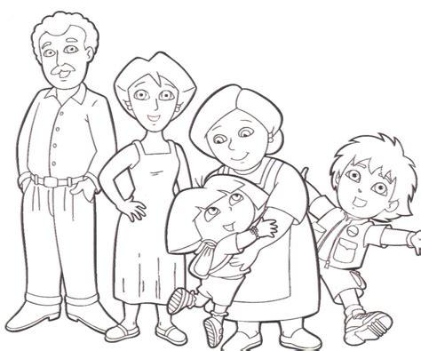 imagenes para colorear la familia dibujos para colorear en el d 237 a de la familia