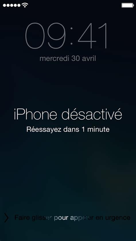 l iphone est désactivé ios code d acc 232 s oubli 233 ou appareil d 233 sactiv 233 assistance apple